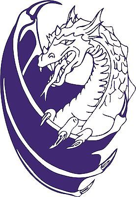 "Dragon Wings Fantasy Mystical Creature Car Truck Window Vinyl Decal Sticker - 7"" Long Edge"