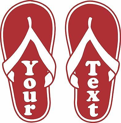 Flip Flops Custom Name Girl Car Truck Window Wall Laptop Vinyl Decal Sticker - 9""