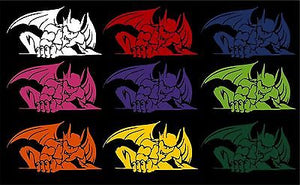 "Gargoyle Creature Monster Beast Car Truck Window Vinyl Decal Sticker        - 24"" x 13.3"""