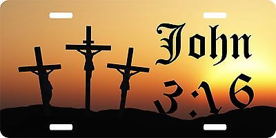 Jesus Christ Christian Lord John 3:16 GOD Cross License Plate Car Truck Tag