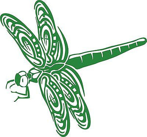 Dragonfly Dragon Fly Insect Wings Car Truck Window Laptop Vinyl Decal Sticker - 11""
