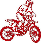 "Motorcycle Dirt Bike Motocross Car Truck Window Laptop Vinyl Decal Sticker - 11"" Long Edge"