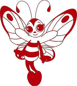 "Butterfly Bee Girl Faerie Fairy Car Truck Window Laptop Vinyl Decal Sticker - 8"" long edge"