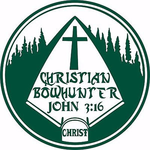 "Christian Christ Cross Bow Hunting Arrow Car Truck Window Vinyl Decal Sticker - 8"" Long Edge"