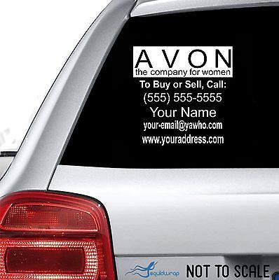 "Avon Business Custom Car Truck Window Wall Laptop Vinyl Decal Sticker - 12"" x 12"""