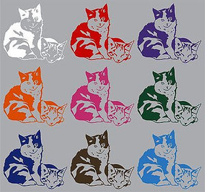 "Cat Baby Kitten Pet Animal Car Boat Laptop Truck Window Vinyl Decal Sticker - 7"" Long Edge"