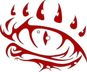 "Dragon Eye Fantasy Mystical Creature Beast Car Truck Window Vinyl Decal Sticker - 9"" Long Edge"