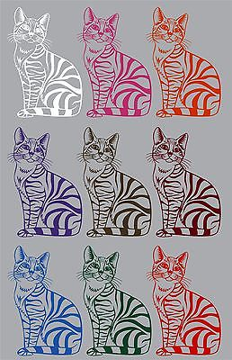 "Cat Animal Kitten Pet Car Truck Window Laptop Vinyl Decal Sticker - 11"" Long Edge"