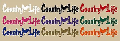 Country Life Living Rooster Chicken Car Truck Window Laptop Vinyl Decal Sticker - 10""