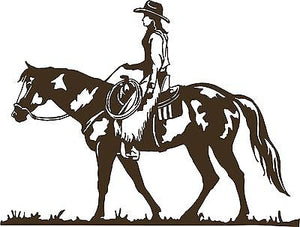 "Cowboy Cowgirl Horse Rodeo Equestrian Car Truck Window Vinyl Decal Sticker - 13"" Long Edge"