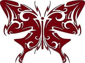 "Butterfly Tribal Wings Truck Car Tattoo Window Laptop Vinyl Decal Sticker - 6"" Long Edge"