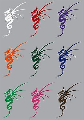 "Dragon Mythical Creature Fantasy Car Truck Trailer Window Vinyl Decal Sticker - 7"" Long Edge"