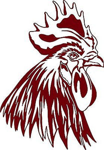 "Chicken Head Rooster Farm Bird Car Truck Window Laptop Vinyl Decal Sticker - 10"" Long Edge"
