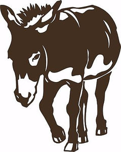 "Mule Donkey Work Horse Rodeo Equine Farm Pet Laptop Vinyl Decal Sticker - 7"" Long Edge"