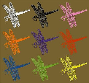 Dragonfly Dragon Fly Insect Wings Car Truck Window Laptop Vinyl Decal Sticker - 6""