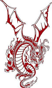 "Dragon Mystical Creatures Fantasy Truck Car Tattoo Window Vinyl Decal Sticker - 8"" Long Edge"