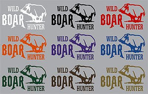 "Wild Boar Hunter Pig Hog Hunting Bow Gun Car truck Window Vinyl Decal Sticker - 8"" x 4.5"""
