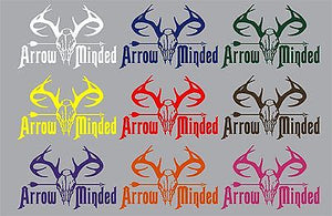 "Bow Arrow Hunting Deer Skull Whitetail Hunter Truck Window Vinyl Decal Sticker - 15"" Long Edge"