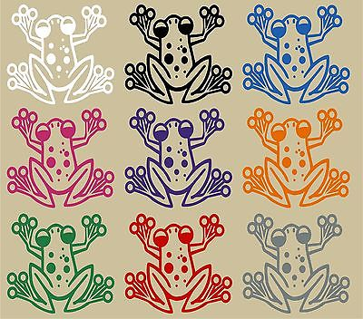 "Cartoon Tree Frog Animal Pet Car Truck Window Vinyl Decal Sticker - 11"" Long Edge"