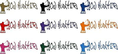"Bow Arrow Hunter Deer Hunting Buck Doe Car Truck Window Vinyl Decal Sticker - 16"" Long Edge"