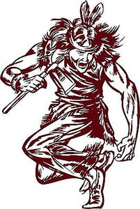 "Native American Indian Warrior Dance Truck Window Vinyl Decal Sticker - 9"" long edge"