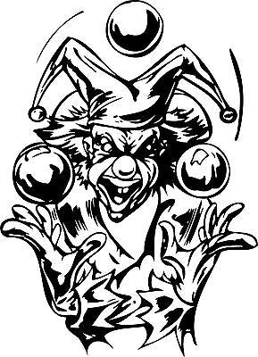 Clown Juggling Balls Jester Joker Car Truck Window Laptop Vinyl Decal Sticker - 11""
