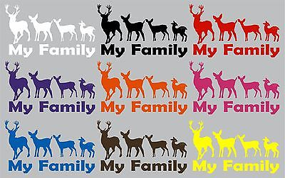 "Family Hunting Deer Buck Doe Baby Fawn Car Truck Window Vinyl Decal Sticker - 14"" Long Edge"