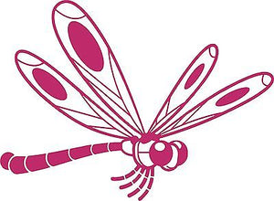 Dragonfly Butterfly Insect Wings Car Truck Window Laptop Vinyl Decal Sticker - 6""