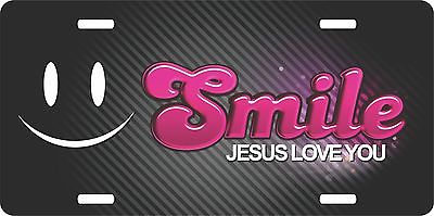 Smile Christian Lord GOD Jesus Love You Christ License Plate Car Truck Tag