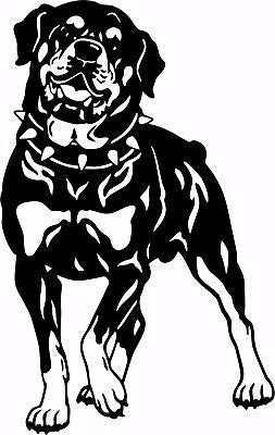 "Dog Rottweiler Guard Rottie Pet Laptop Vinyl Decal Sticker - 13"" Long Edge"