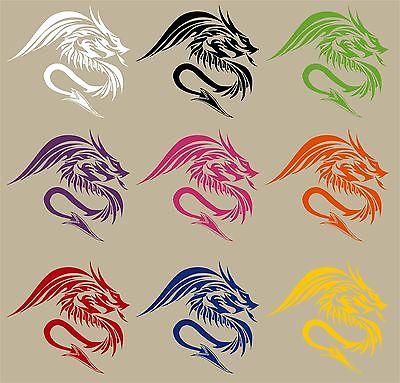 "Dragon Tribal Mystical Monster Fantasy Car Truck Window Vinyl Decal Sticker - 10"" Long Edge"