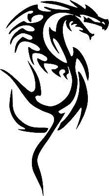 "Dragon Tribal Monster Fantasy Beast Car Truck Window Laptop Vinyl Decal Sticker - 9"" Long Edge"
