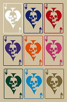 "Ace of Spades Playing Cards Skull Car Truck Window Laptop Vinyl Decal Sticker - 13"" Long Edge"