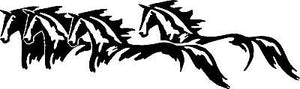 Wild Horses Running Western Rodeo Car Truck Window Wall Vinyl Decal Sticker - 8""