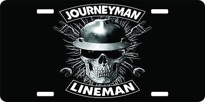 Lineman Journeyman Linemen Power Worker Electrician License Plate Car Truck Tag