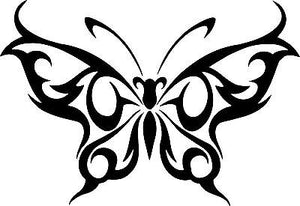 "Butterfly Tribal Design Truck Car Tattoo Window Laptop Vinyl Decal Sticker - 13"" Long Edge"