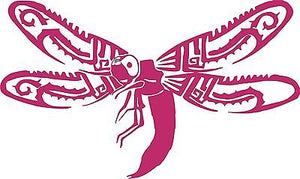 Dragonfly Butterfly Bug Wings Tribal Car Truck Window Laptop Vinyl Decal Sticker - 10""