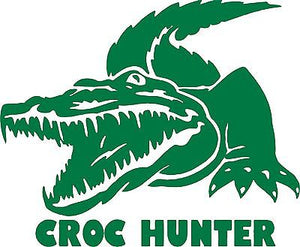 "Crocodile Croc Hunter Alligator Car Truck Window Boat Laptop Vinyl Decal Sticker - 9"" Long Edge"