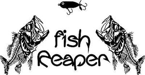 Fish Reaper Skeleton Fishing Lure Hook Car Boat Truck Window Vinyl Decal Sticker