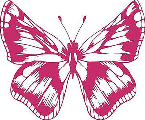 "Butterfly Bug Insect Animal Car Truck Window Vinyl Decal Sticker - 11"" Long Edge"