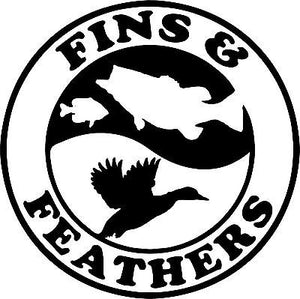 "Duck Fish Hunting Hunter Gun Car Truck Window Laptop Vinyl Decal Sticker - 5"" Long Edge"
