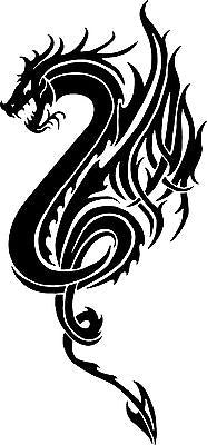 "Dragon Beast Tribal Art Myth Fantasy Car Truck Window Laptop Vinyl Decal Sticker - 11"" Long Edge"
