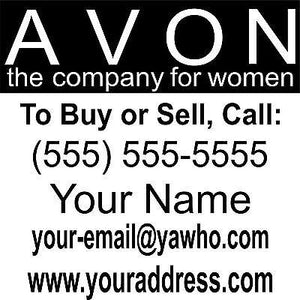 "Avon Business Custom Car Truck Window Wall Laptop Vinyl Decal Sticker - 11"" x 11"""