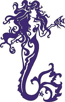 "Tribal Mermaid Fantasy Ocean Girl Fish Car Truck Window Vinyl Decal Sticker - 9"" Long Edge"