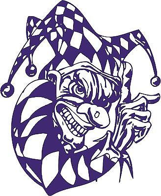 Clown Evil Jester Joker Fool Car Truck Window Laptop Vinyl Decal Sticker - 12""