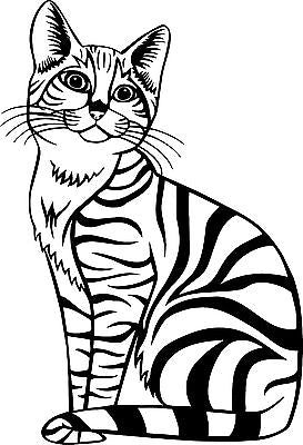 "Cat Animal Kitten Pet Car Truck Window Laptop Vinyl Decal Sticker - 12"" Long Edge"