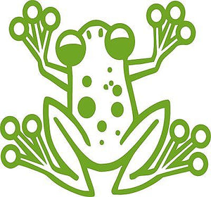 "Cartoon Tree Frog Animal Pet Car Truck Window Vinyl Decal Sticker - 9"" Long Edge"