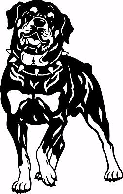 "Dog Rottweiler Guard Rottie Pet Laptop Vinyl Decal Sticker - 9"" Long Edge"