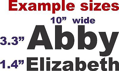 "Custom Made Personalized Name Text Sign Car Truck  Laptop Vinyl Decal Sticker - 13"" wide"