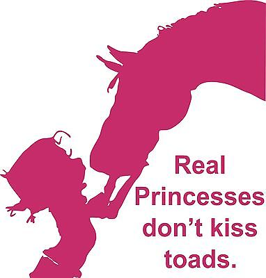 "Girl Cowgirl Kiss Horse Animal Princess Car Truck Window Vinyl Decal Sticker - 14"" Long Edge"